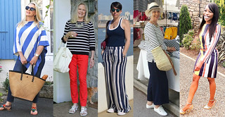 Fashion bloggers in stripes #iwillwearwhatilike | by Not Dressed As Lamb