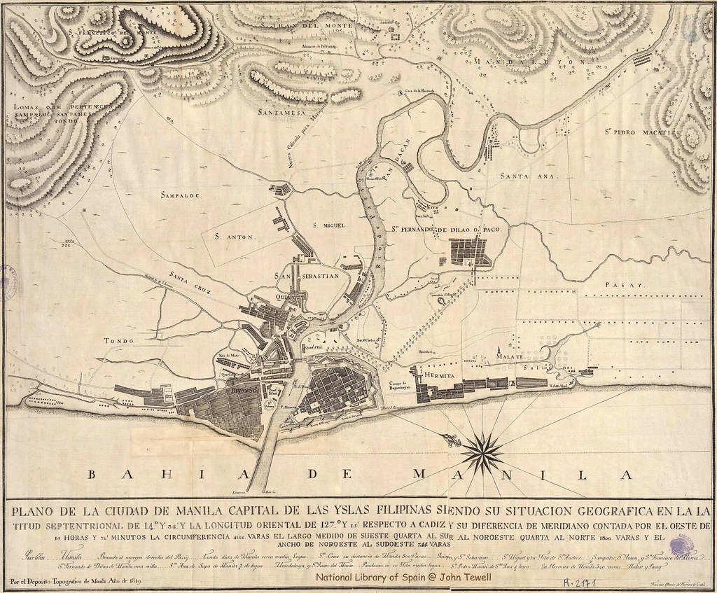 Manila Philippines map 1819 Title Map of the City of Man Flickr
