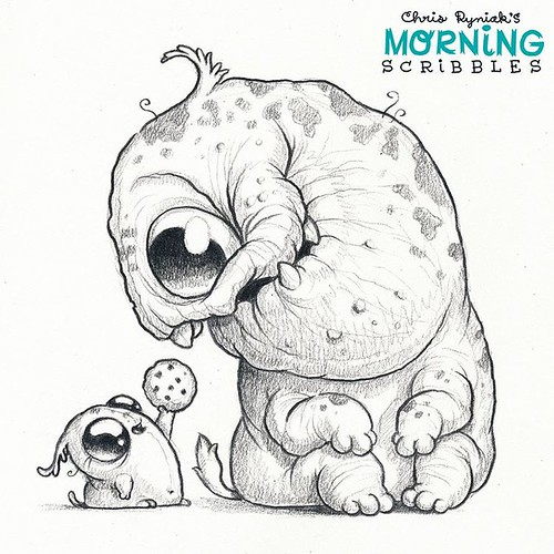 Character Drawings Portraits And Monsters: Making Friends Is Easy...when You Have Cookies! 🍪 #mornin