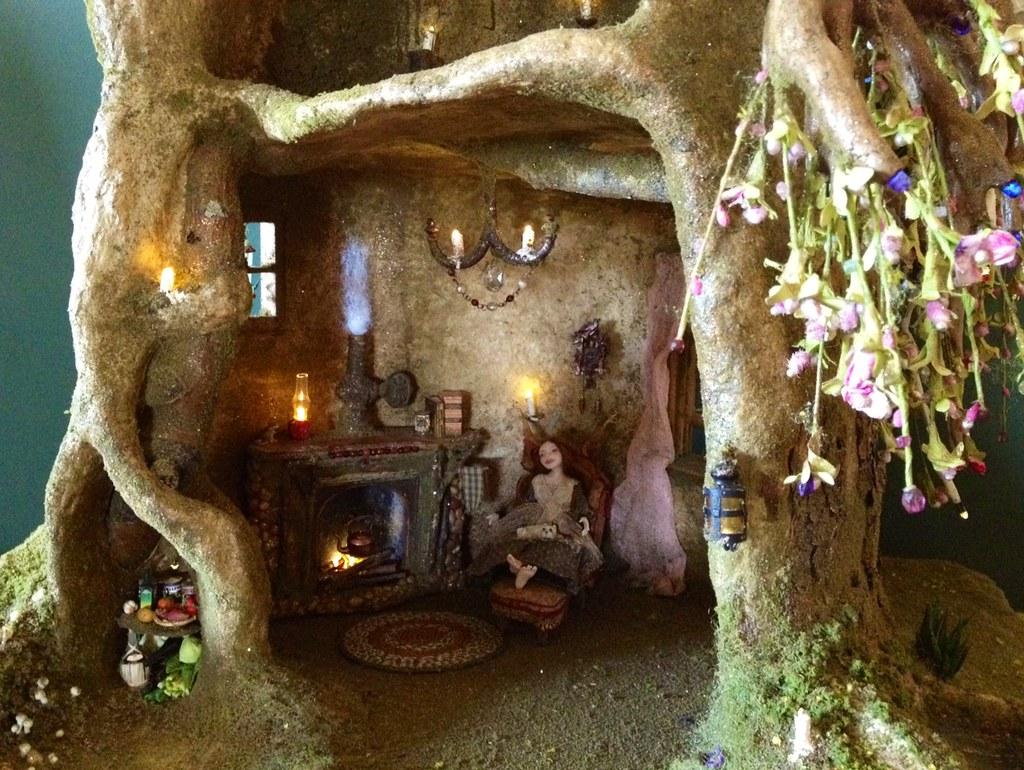 Superb ... Fairy Tree Trunk House In Progress | By Torisaur