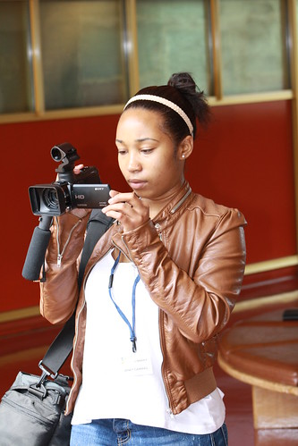 Janay Filming the Civic Center Library Profile | by Marin County Free Library