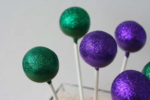 Jewel Toned Glitter Cake Pops | by Sweet Lauren Cakes