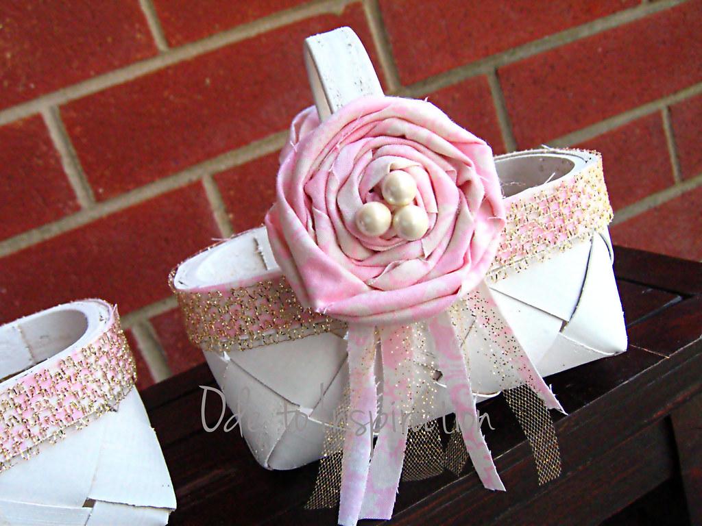 Diy Flower Girl Basket Blogged Odetoinspirationwordpres Flickr