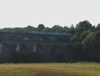 Class 158 train on Chirk Viaduct
