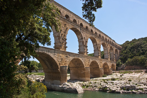Pont du Gard from the River | by Fotomoe