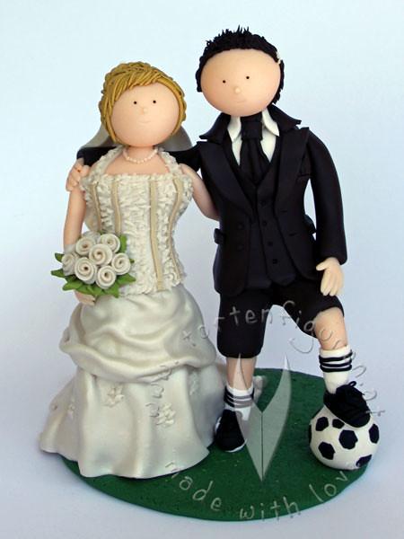Fussball Brautpaar Tortenfiguren Flickr