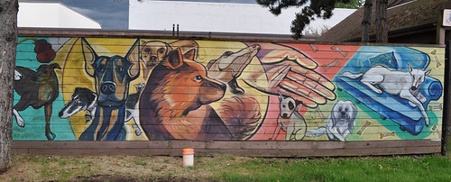 Mural outside Animal Shelter | by Sparechange63