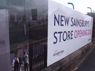 Longbridge Town Centre - signs - Bristol Road South, Longbridge - New Sainsbury's Store opening 2013 | by ell brown