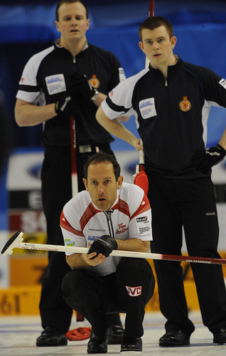Basel Switzerland.April7-2012.Men's World Curling Championship.Canada 2nd.Brent Laing.CCA/michael burns photo | by seasonofchampions