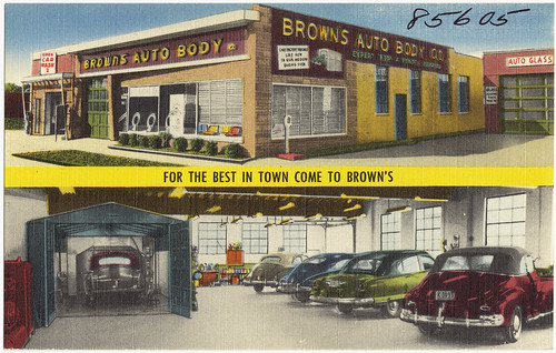 Brown's Auto Body. For the best in town come to Brown's | by Boston Public Library