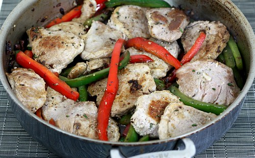 pork tenderloin with olives and peppers | by Elly Says Opa
