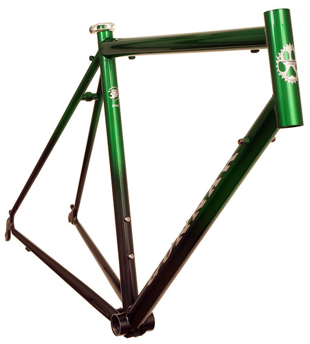 Front View of Sport with Green to Black Fade | by Gunnar Cycles