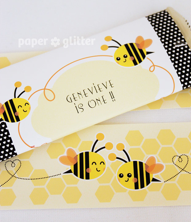 05 printable party printables bee children birthday paper flickr