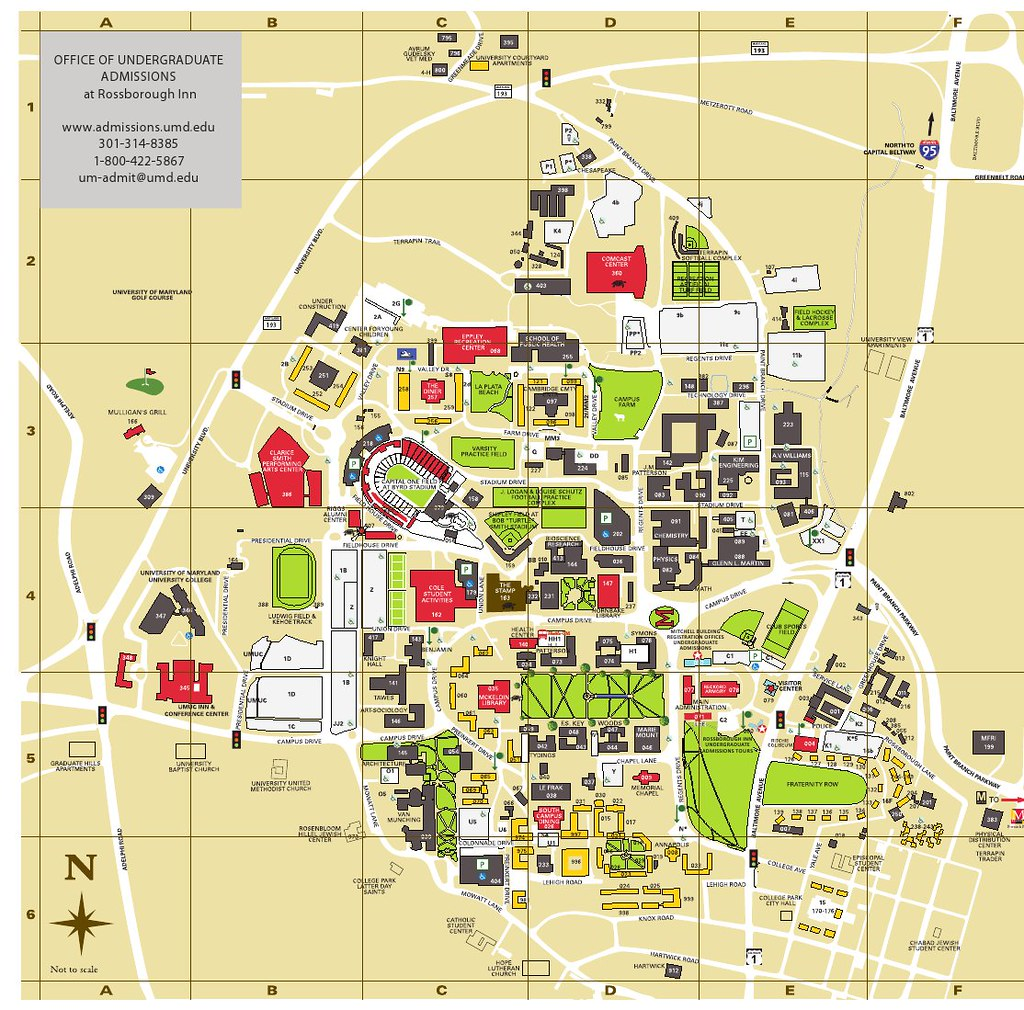 University of Maryland Campus Map | This is a map of the Uni… | Flickr