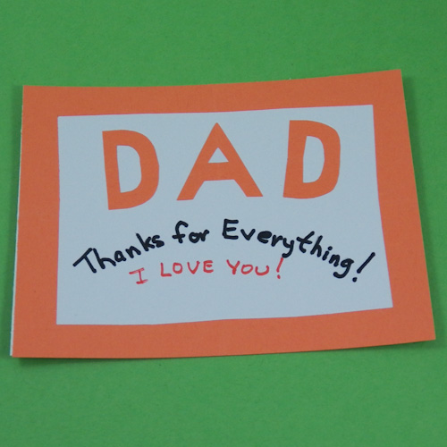 example of simple father s day card orange aunt annie s flickr