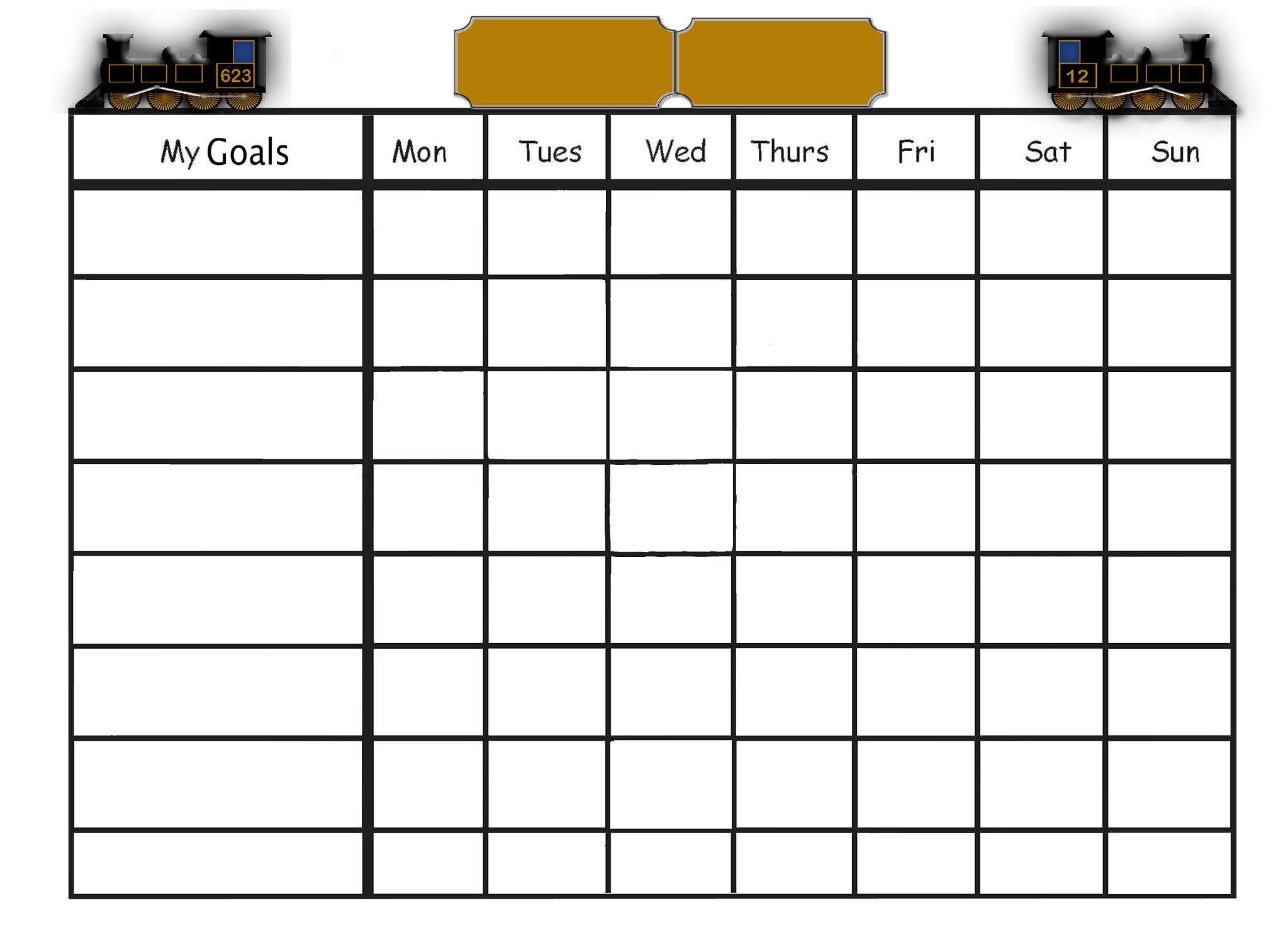 goals chart template
