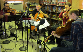 Turtle Island String Quartet in the KSUT studios | by KSUT Photo gallery