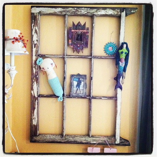 Recycled vintage window frame on my bedroom decor flickr for Recycled window frames