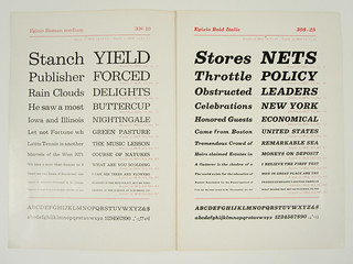 Egizio Specimen Booklet | by Herb Lubalin Study Center