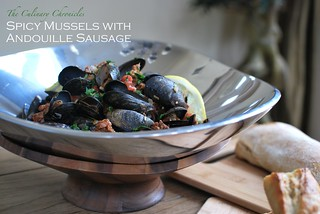 Spicy Mussels with Andouille Sausage | by The Culinary Chronicles