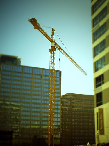 downtown construction crane | by dankueck