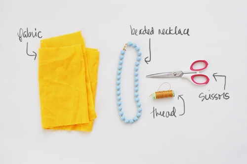 diy: fabric wrapped necklace | by rubyellen