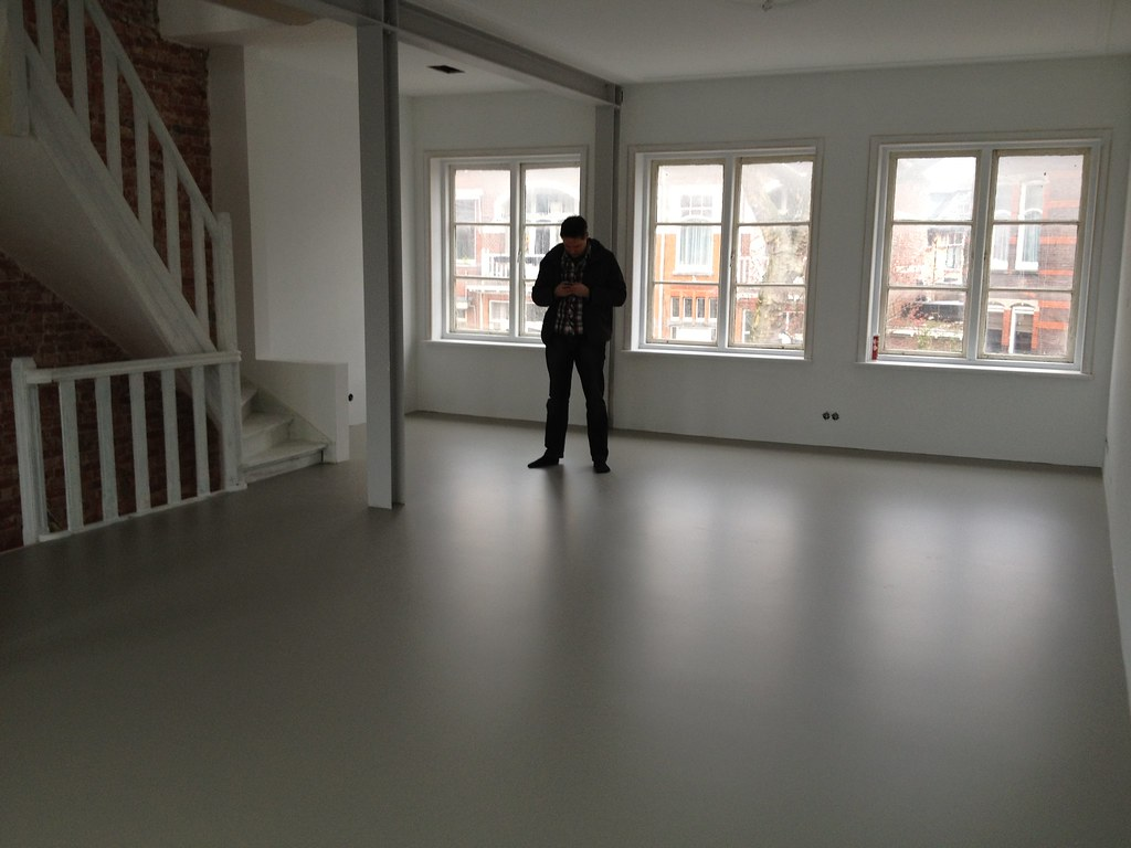 Home Office Renovation To The Finished Resin Floor 02 1922 Home Office Renovation By Michiel Renovu2026 Flickr