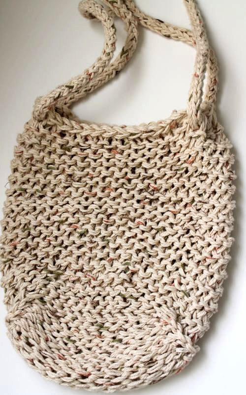 Beige Loom Knit Bag Sparkleknit Flickr