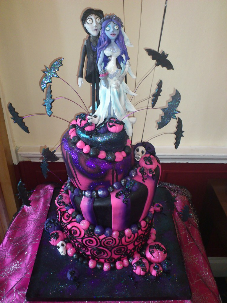 Corpse Bride themed wedding cake for a Halloween wedding Flickr