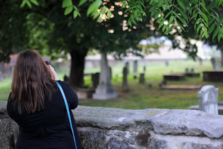 Lori at masonic cemetery | by GSheller