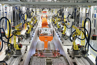 Sterling Heights Assembly Plant | Robots work on the ...  Friction