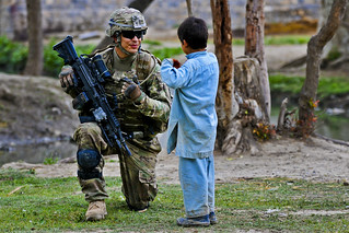 Pausing for a chat | by The U.S. Army