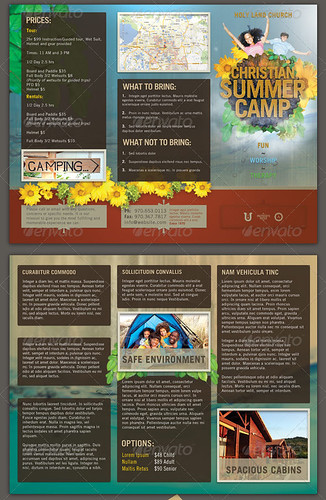 Church Summer Camp Brochure Template Preview2 Copy Flickr