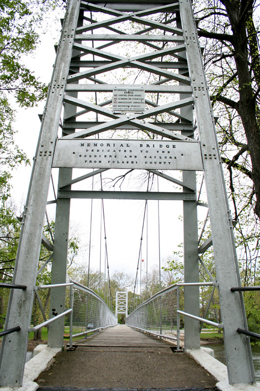 Swinging bridge winamac images 68