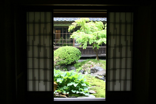 View through screens of the garden | by sondy