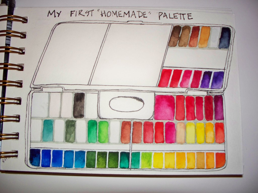 my 1st watercolor palette grumbacher academy i think wate flickr