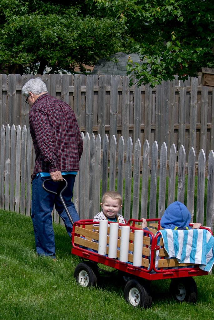 Wagon ride with Grandpa