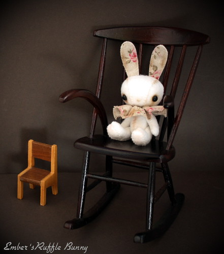 Ruffle bunny likes the big boy chair | by pure_embers