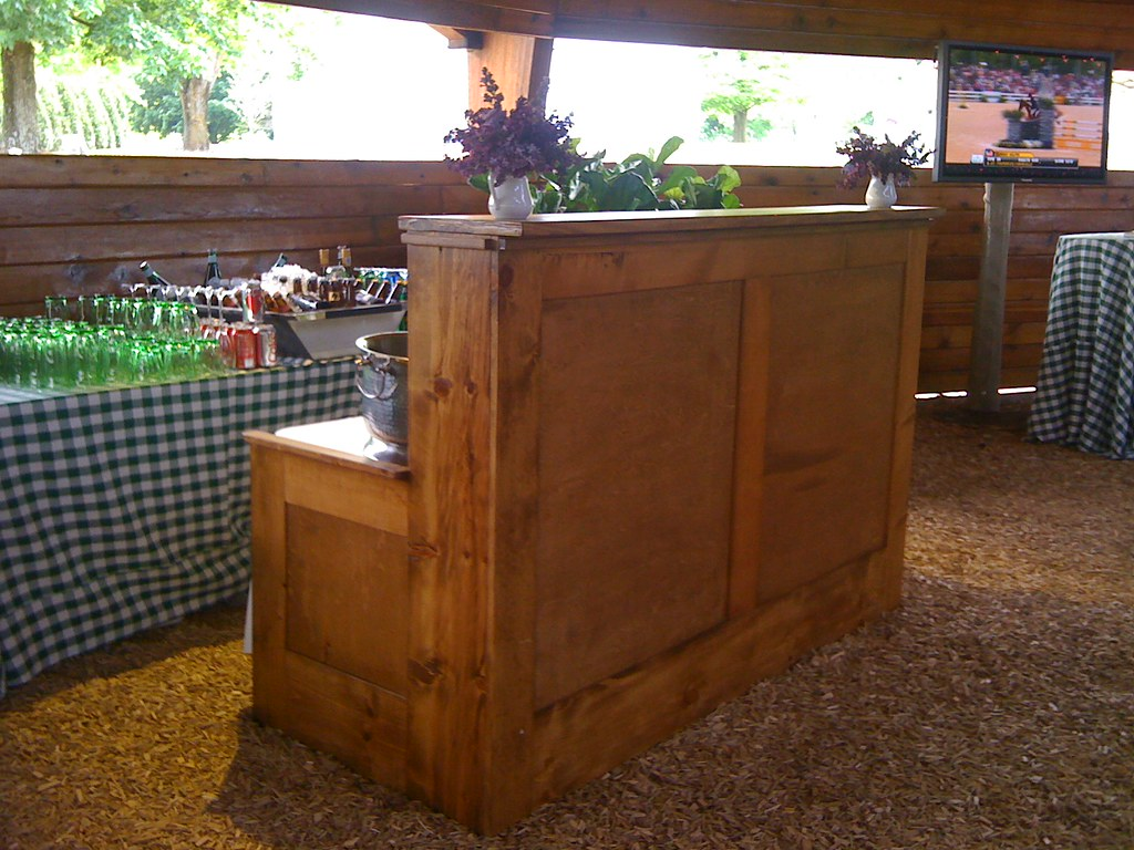 Wood Bar Fronts | We made these bars to match our farm house… | Flickr