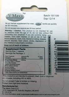 RECALLED - V Maxx Rx | by The U.S. Food and Drug Administration