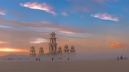 Photographer at Sunset, Burning Man 2011 | by Michael Holden