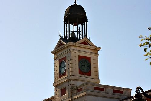 Torre del reloj de la puerta del sol madrid fabricado for Reloj puerta del sol madrid