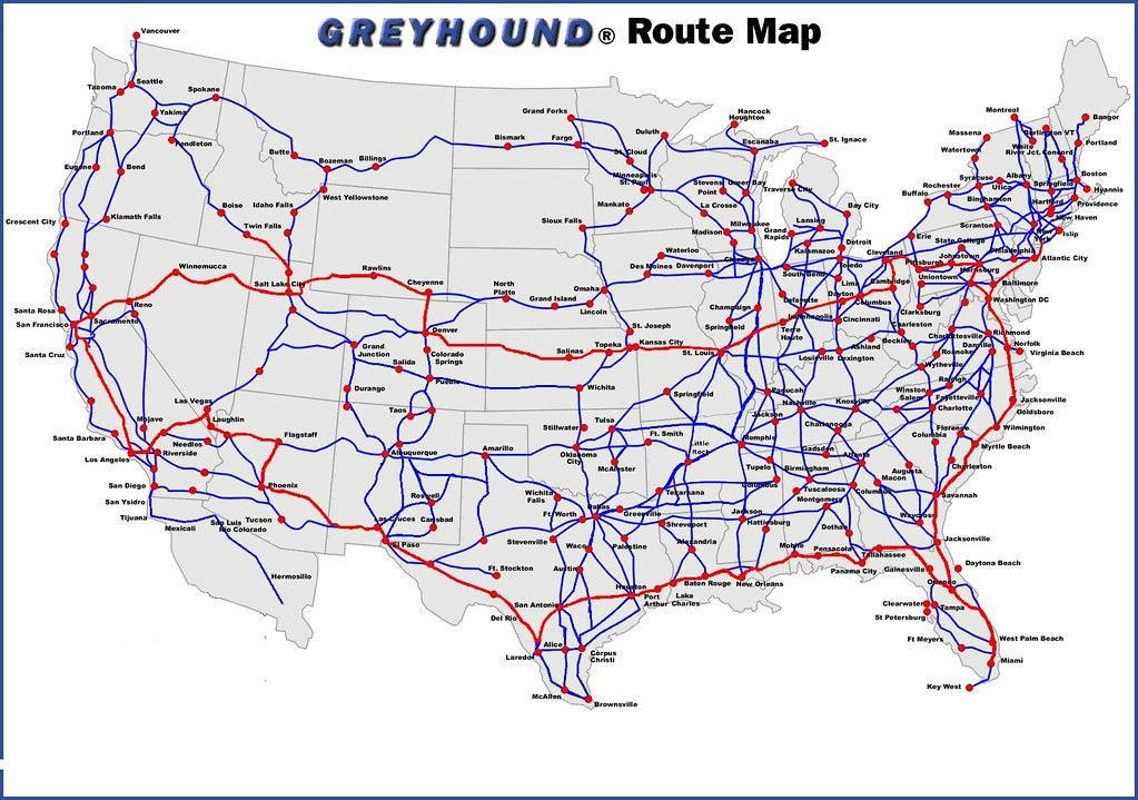 Travelling Around Australia The Greyhound Route Map Guide And ...