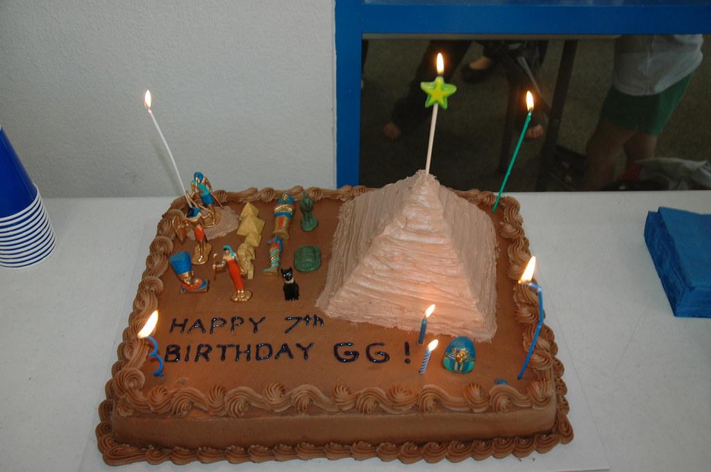 Ancient Egyptian Themed Birthday Cake Thomas Green Flickr
