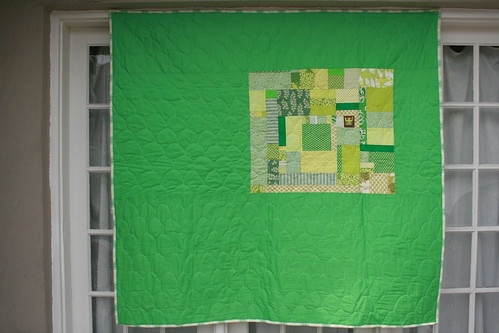improv green quilt | by Leigh - leedle deedle quilts