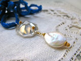 "Jubilee necklace/blue ribbon | by Lea ""Fine van Brooklin"""