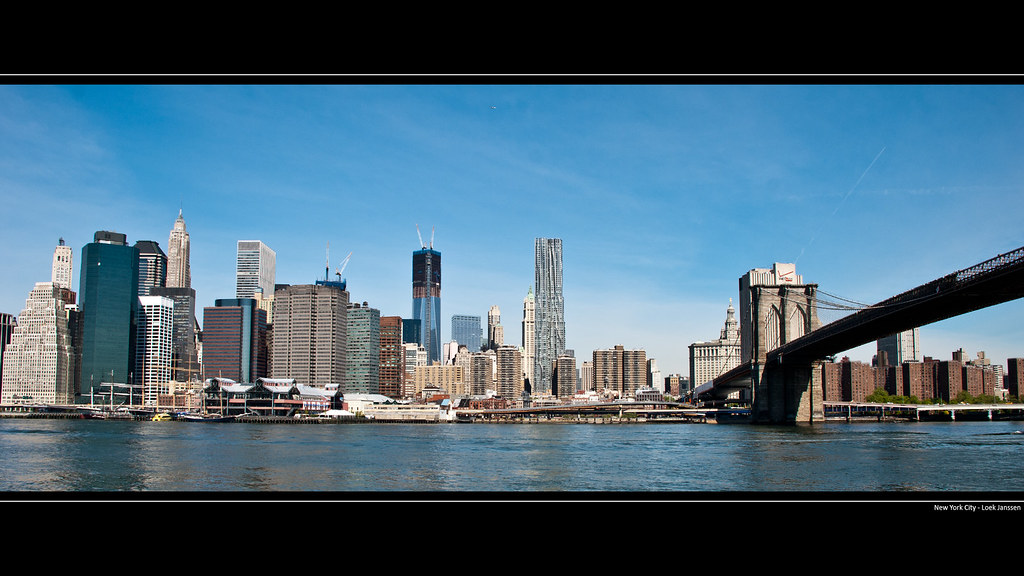 Nyc Skyline Manhattan Brooklyn Bridge Wallpaper Desktop Flickr