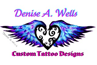 Winged Heart Tattoo design by Denise A.Wells | by ♥Denise A. Wells♥