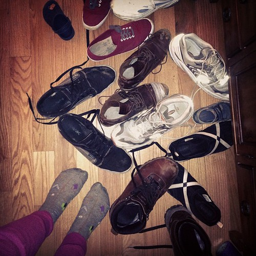 So many kicked-off shoes! #fromwhereistand | by Célèste of Fashion is Evolution