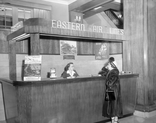 N.53.16.4717 Eastern Airlines Ticket Desk in Sir Walter Hotel March 1946 | by State Archives of North Carolina